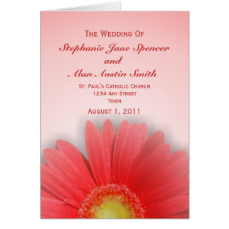 Gorgeous Gerbera Wedding Program