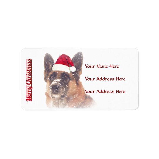 Gorgeous German Shepherd Holiday Address Labels