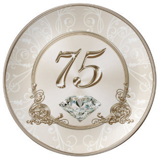 Gorgeous Gifts for 75 Year Old Woman, 75 Plate