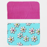 Gorgeous Girly Flowers Swaddle Blankets