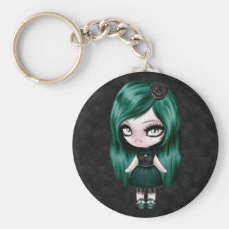 Gorgeous Girly Goth Retro Doll Key Chain