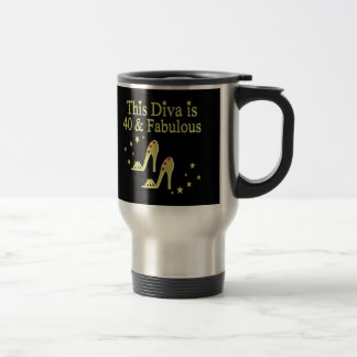 GORGEOUS GOLD 40 AND FABULOUS DESIGN TRAVEL MUG