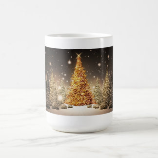 Gorgeous Gold Christmas Tree Mugs