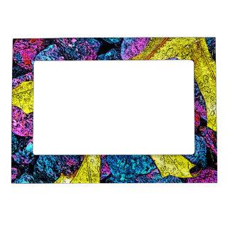 Gorgeous Golden purple and blue Leaf Art Magnetic Frame