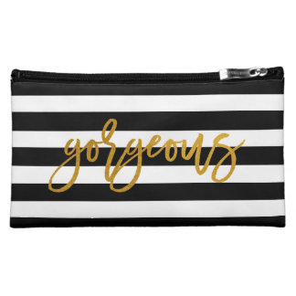 Gorgeous | Golden | Stripe Chic Bag