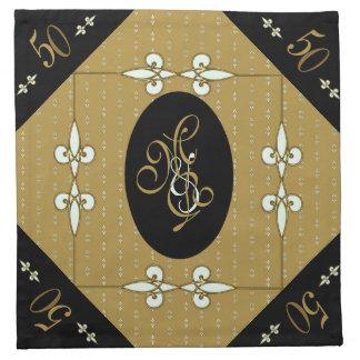 Gorgeous Golden Wedding Vintage Victorian Art Deco Napkin