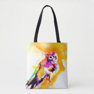 Gorgeous Gorget Hummingbird Print Tote Bag