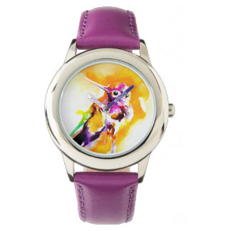 Gorgeous Gorget Hummingbird Print Watch