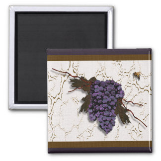 Gorgeous Grapes Designer Magnet 2 Inch Square Magnet