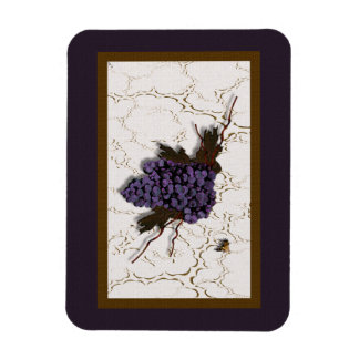 Gorgeous Grapes Rectangular Photo Magnet