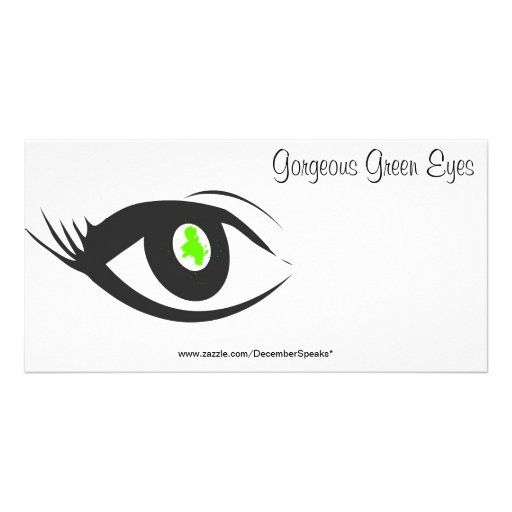 Gorgeous Green Eyes Personalized Photo Card