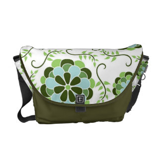 Gorgeous Green Floral Nature Themed Messenger Bag