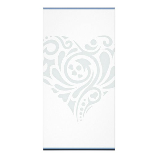 Gorgeous Grey floral heart Photo Card