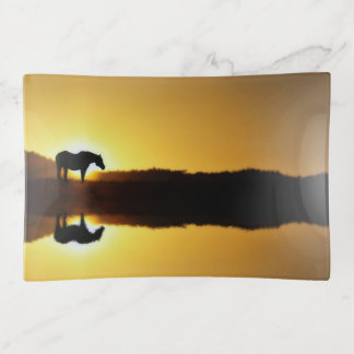 Gorgeous Horse in the Sunrise Trinket Tray