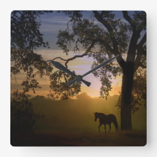 Gorgeous Horse in the Sunset Clock