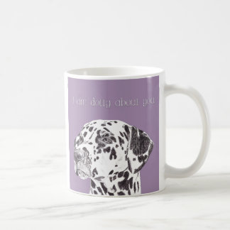 "Gorgeous ""I am dotty about you"" dalmation dog mug"