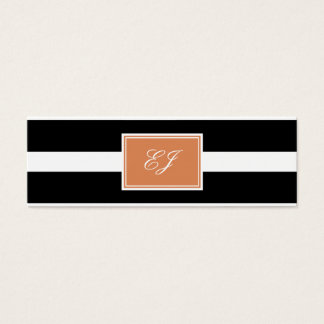 Gorgeous Initials Skinny Calling Cards