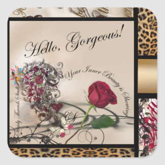 Gorgeous Inner Beauty Square Sticker