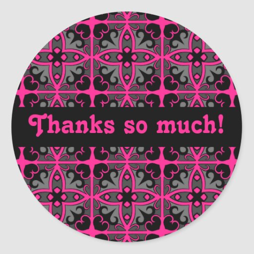 Gorgeous kaleidoscope in hot pink, gray and black sticker