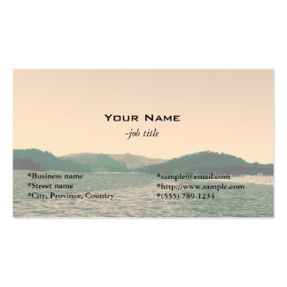 Gorgeous landscape photo art business cards business card template