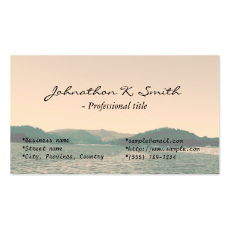 Gorgeous landscape photo art business cards business card template