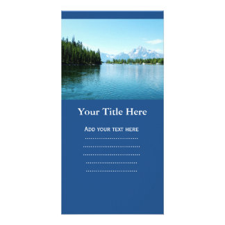 gorgeous landscape photography - lake, mountain, photo greeting card