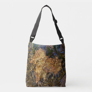Gorgeous Leaf Under Water Photographic Art Crossbody Bag
