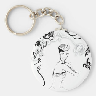 Gorgeous Living Basic Round Button Key Ring