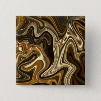 Gorgeous Marble Style - Warm brown 15 Cm Square Badge