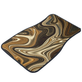 Gorgeous Marble Style - Warm brown Car Mat