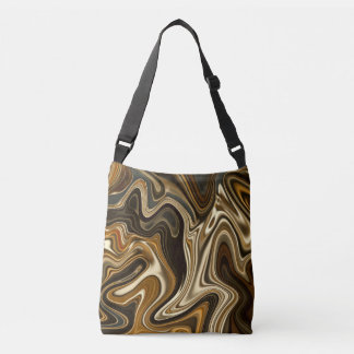 Gorgeous Marble Style - Warm brown Crossbody Bag