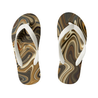 Gorgeous Marble Style - Warm brown Kid's Thongs
