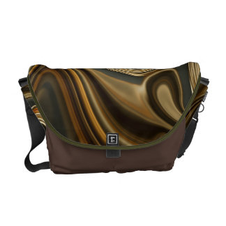 Gorgeous Marble Style - Warm brown Messenger Bag