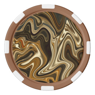 Gorgeous Marble Style - Warm brown Poker Chips