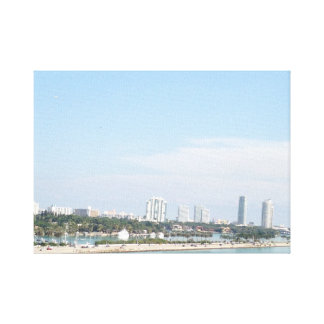 Gorgeous Miami Skyline Canvas Print