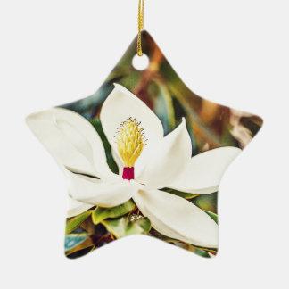 Gorgeous Mississippi Magnolia Ceramic Ornament