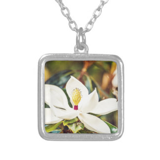 Gorgeous Mississippi Magnolia Silver Plated Necklace