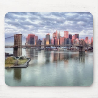 Gorgeous morning view and city reflections mouse pad