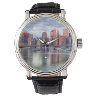 Gorgeous morning view and city reflections watches