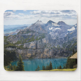 Gorgeous Mountain view and Blue Lake Mouse Pad