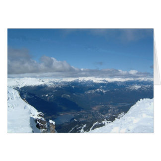Gorgeous mountaintop view card