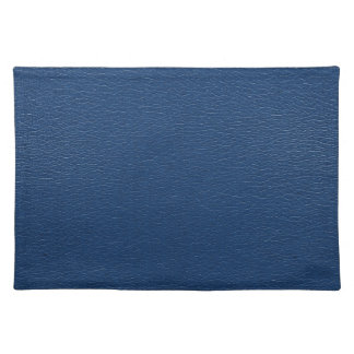 Gorgeous Navy Blue Leather Texture Placemat