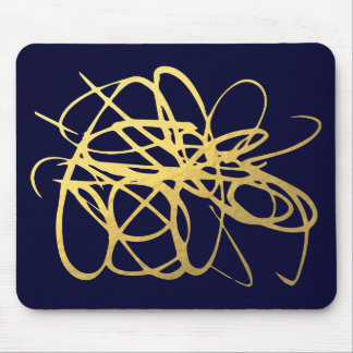 Gorgeous Navy Gold Mousepad for Your office