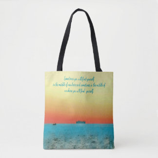 Gorgeous Ocean View Finding Yourself Quote Tote Bag