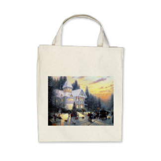 Gorgeous Old Fashioned Christmas Scene Tote Bag