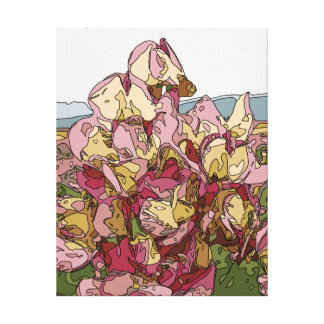 Gorgeous Orchid Flowers in Spring Canvas Print