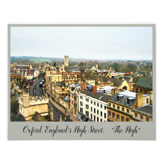 Gorgeous Oxford, England, High Street, The High #2 Photo Print