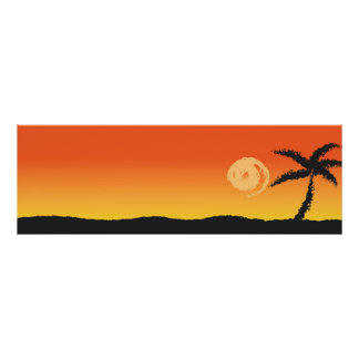 GORGEOUS PALM BEACH SUNSET POSTER