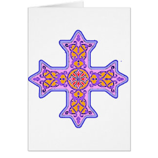Gorgeous Pastel Coptic Cross Greeting Card