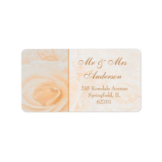 Gorgeous peach cream rose Address Address Label